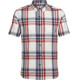 Icebreaker Compass SS Shirt Men fathom hthr/rocket/plaid
